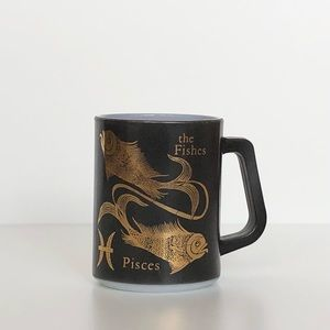 Rare Vintage Pisces Mug by Federal Glass